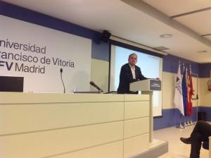 Jenaro Gallego (IBM) durante la charla