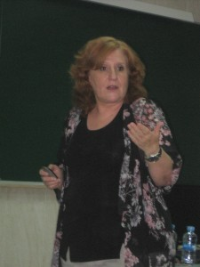 Ángela Ribeiro durante la charla